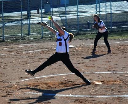 Gabby Heckman fires a pitch to the plate in a 1-0 victory  -  Photo by Josh Siebenaler